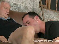 Sexy lad gets fucked by mature cock