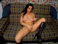 Sexy brunette girl gets fucked by a transsexual