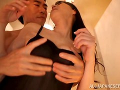 Fingering Oiled Up Japanese MILF Hitomi Oohashi's Pussy