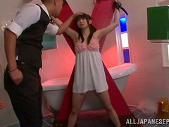 Pleasure Torture for Tied Up Japanese Girl in Bondage Vid