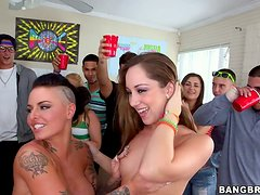 Insane party ends up with an insane orgy