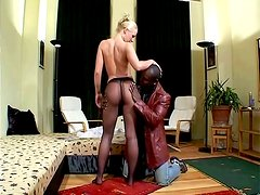 Couple Joins a Blonde Fucking a Black Man for a Hot Interracial Foursome