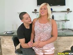 Divine blond angel is going to have so much fun on that dick