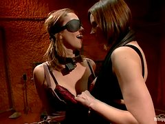 Audrey Rose gets bound and tormented in lesbian BDSM scene