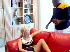 Big Black Cock Fucking A Horny Cherrleader MILF In The Bedroom