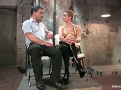Maitresse Madeline Hot Blonde Gets Pussy Eaten after Strapon Fuckng a Guy