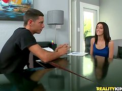 Smoking hot teen angel Kate Moore is fucking at the casting