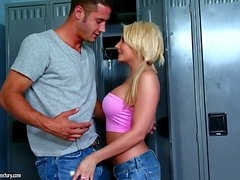 Sexy Time in the Locker Room with Blonde Stunner Madison Ivy