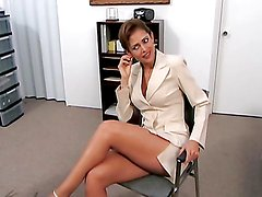 Slutty milf gets fucked in the office