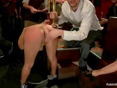 Two beauties are being fucked and abused in private party