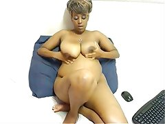 Ebony wit big saggy tits
