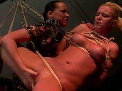 Sex-starved wench with big tits gets her pierced pussy fingered hard