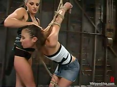 Nikki Nievez gets tortured and toyed by sexy Amber Rayne