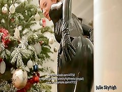 First latex catsuit experience & ballet boot msturbation