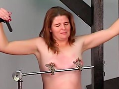 Bondage video ends with cunt fisting