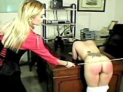 Bad girls spanked in the office