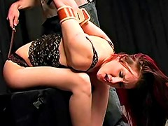 Delightful brunette is dreaming about blowjob