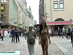 Sweet Victoria S. shows her sexy ass in public