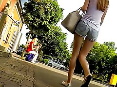 Candid - Teen In Tight Hot Pants