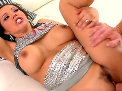 Nasty milf Francesca Le spends time with perverted man. He is drilling her cunt so well before