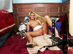 Blonde asian Jessa Rhodes with tiny breasts and