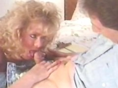 Alluring curly-haired blonde suck a big dick