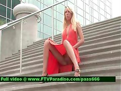 Ingenious Teenage Blonde Outdoor Flashing
