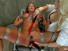 Big breasted Trina Michaels gets asstoyed with an electric dildo
