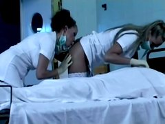 Two Sexy Nurses Gets Hard Cock In Nasty Threesome Sex