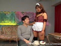 Hot mature redhead Satou Haruka in a doggy-style sex.