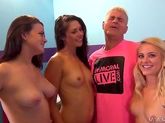 Lucky Guy Fucking Three Hot And Horny Chicks
