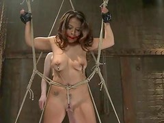 Gorgeous Babe with Big Tits Getting Tortured with Pleasure in Lesbian BDSM