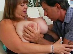 Mature BBW slut gives hot titjob in provocative XXX fuck video