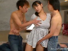 Slutty Japanese Babe Gets Fucked By Her Two Friends!