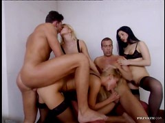Hot Fuck Fest with Two Blondes and a Brunette with DP and Hardcore Fun