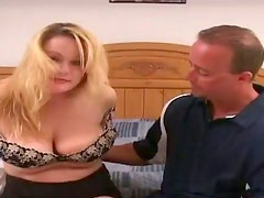 Chubby Emily fucks a guy and gives an amazing titjob