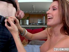 Courtney Cummz moans sweetly while getting her pierced pussy pounded