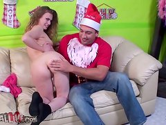 Playful Sasha Swift licks balls and gets toyed in a backstage