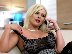 Amazing erotica with a divine blond milf Aaliyah Ce Pelle