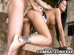 Black Angelica Fucked In The Dungeon