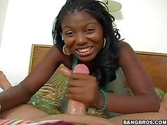 Delicious ebony Miss Simone is POV fucked