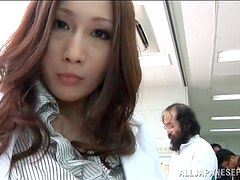 Japanese Girl with Huge Boobs Titty Fucks for Jizz on Her Knockers
