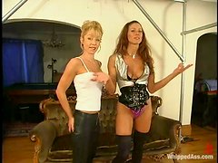 Janay takes vengeance on brown-haired hottie Kym Wilde