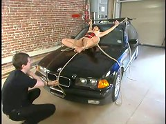 Gorgeous Asian siren Mika Tan is under pain in garage