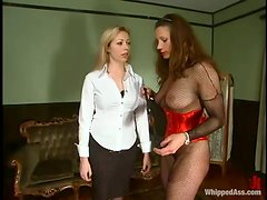 Adrianna Nicole enjoys being tortured by voracious mistress Kym Wilde