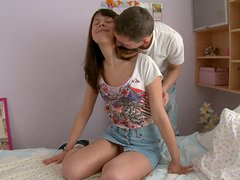 Delicious sex scene with a kinky teen Danica