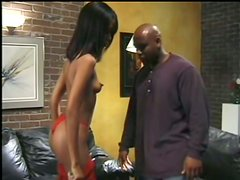 Beautiful Ebony Babe Is So Sexy While This Fat Black Cock Penetrates Her Wet Cunt