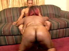 BBW Black Cherry With Huge Tits Gets Fucked Doggystyle Till She Gets Cum On Tits