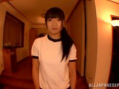 Hot Japanese Babe Sucking And Fucking Doggystyle In Threesome