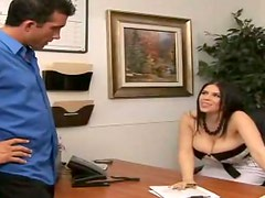 Hugely Breasted Brunette Boss Daphne Rosen Pleasing a Dick in the Office